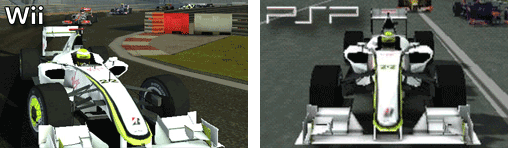 Brawn BGP001 in der Wii und PSP - Version