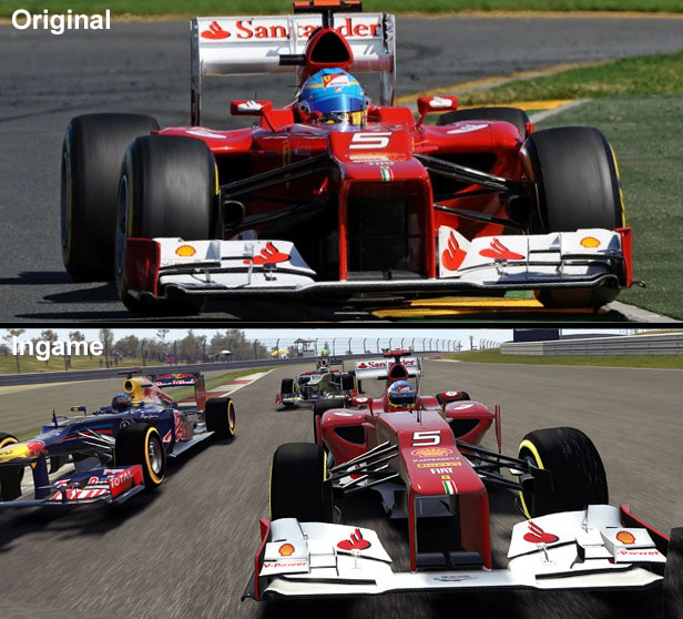 Vergleich des Ferrari
