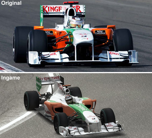 Vergleich des Force India