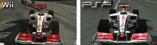 McLaren MP4-24 in der Wii und PSP - Version