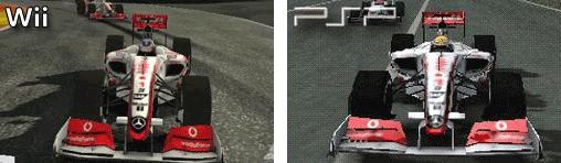McLaren MP4-24 in der Wii und PSP - Version