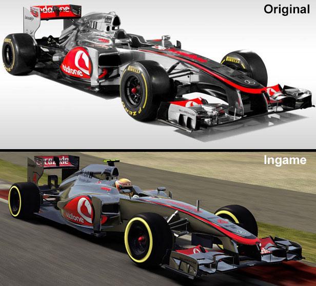 Vergleich des McLaren