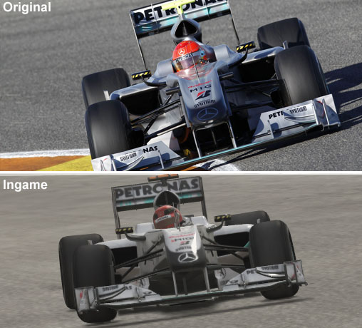 Vergleich des Mercedes