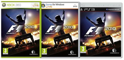 Die Packshots von F1 2010