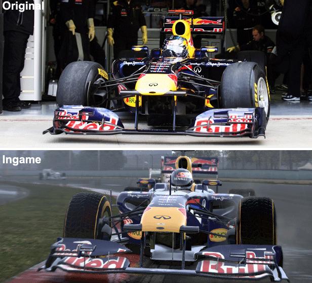 Vergleich des Red Bull