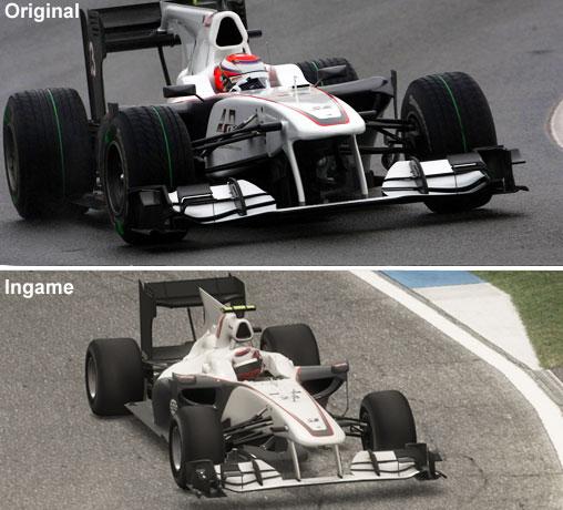 Vergleich des Sauber