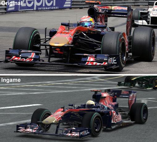 Vergleich des Toro Rosso